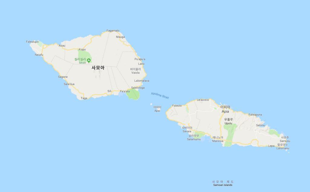 사모아섬 위치